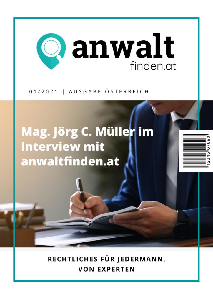 Mag. Jörg C. Müller Interview anwaltfinden.at